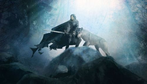 asoiaffanblog:  Game of Thrones wallpaper: Sword in the Darkness by ~McNealy