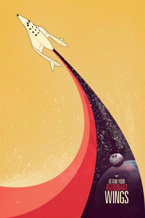 Poster designs based on the prospect of affordable space exploration by human beings.