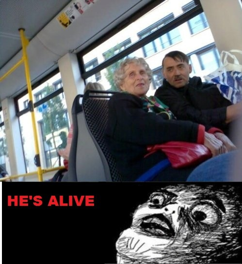 "thefuuuucomics:  ""Hitler takes the bus""Submitted by katherineburnsblunts."