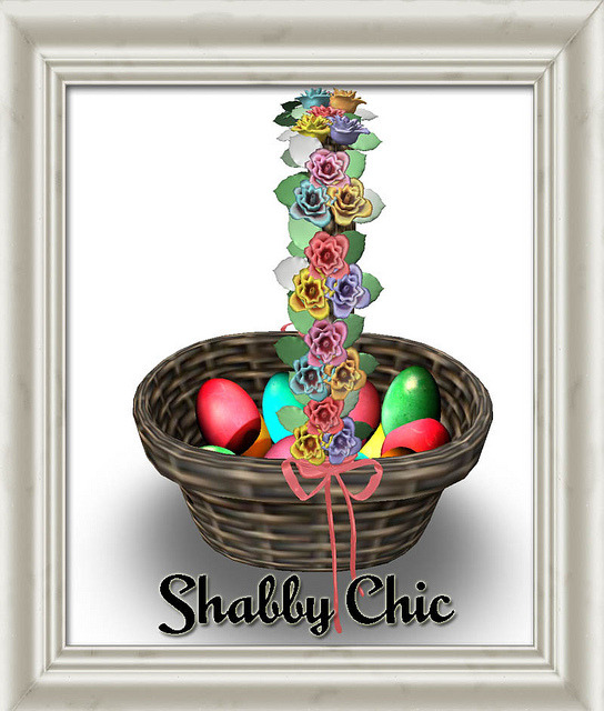 Shabby Chic Easter Basket on Flickr. This Easter Basket is FREE at the Shabby Chic Vintage Emporium today. It has an attach animation so you can walk around holding your pretty Easter Basket full of Brightly colored eggs.Follow it on FlickrFollow it on the Chicaholic BlogVisit the Christmas Market in GemellaVisit the Main Store in GemellaVisit the Texture store in Brauni
