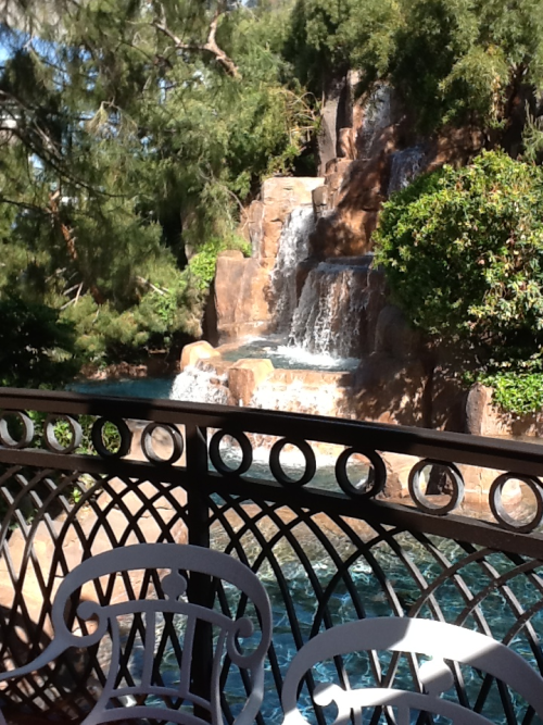 Outdoor breakfast at Wynn Las Vegas. I love the view!