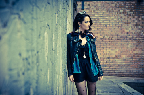 Out shooting in Dublin City Centre, with the wonderful Katie Van Buren. I love that wall, check out a few more that I'll be posting.