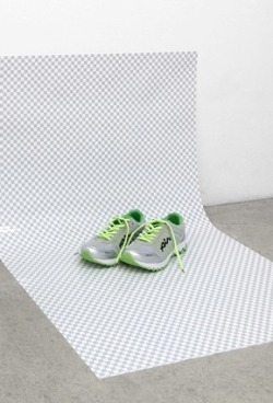 ONLY AIR - 2011  Installation with Photoprint and shoes by Aurélien Arbet and Jérémie Egry