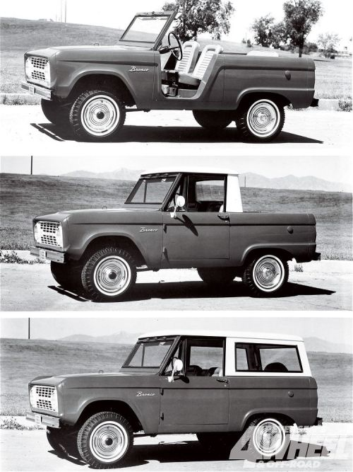 a1976fordbronco:  '66- '77 Bronco // Roadster, Half-Cab and Wagon