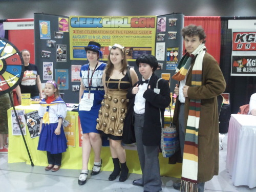 These rad Whovians traveled through space & time to visit GeekGirlCon booth 345 at SakuraCon!