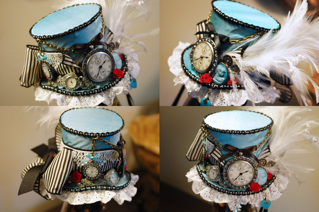 kylarflynn:  Awesome Alice-themed Steampunk hat!