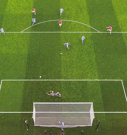 Mikel Arteta goal shot on a remote camera from the Emirates roof (x)