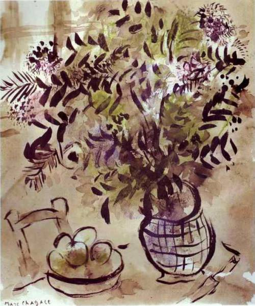 Still Life with Flowers, Marc Chagall.