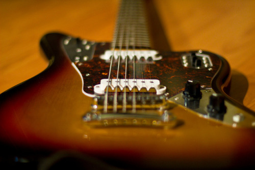 gregsguitarlessons:  jag baritone on Flickr. Fender Jaguar Baritone Custom