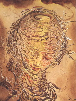 narwalmilk:  Raphaelesque Head Exploding by Salvador Dalí, 1951.