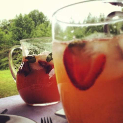 Summer peach tea punch! (Taken with instagram)