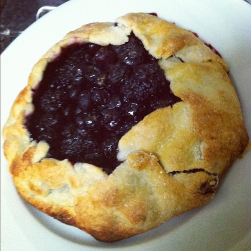 Black and Blue Berry Gallette! (Taken with instagram)