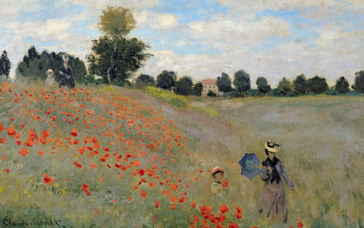 Poppies Blooming Claude Monet, 1873