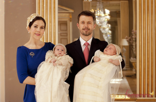 Crown Prince Frederik,Crown Princess Mary,Prince Vincent & Princess Josephine,2011.