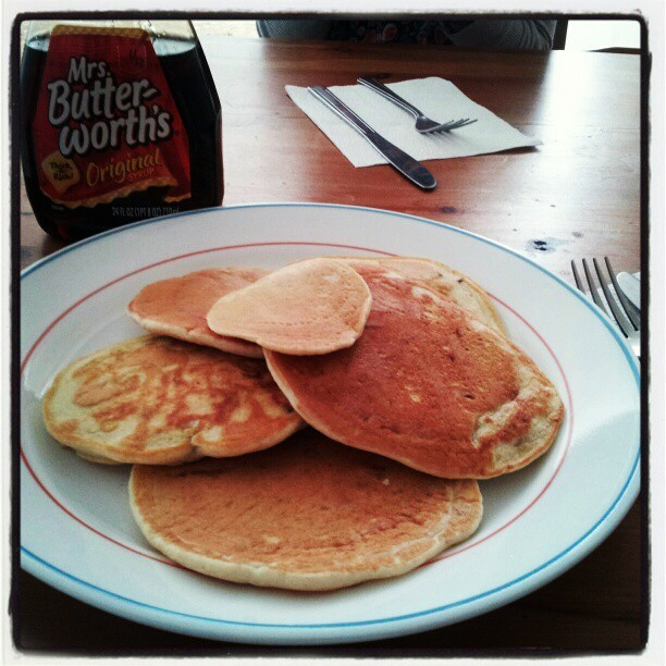 Blueberry pancakes on Easter Sunday!  (Taken with instagram)