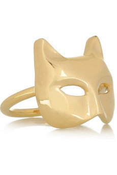 Swooning over this Anita Ko Cat Mask ring.