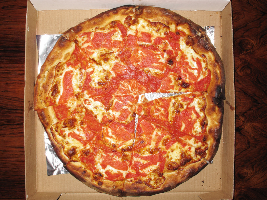 March 25th dinner: large pizza from Arturo's http://nymag.com/listings/restaurant/arturos/