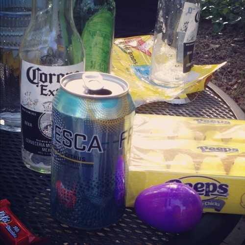 In true Gelhard tradition: beer, peeps and fresca (Taken with instagram)