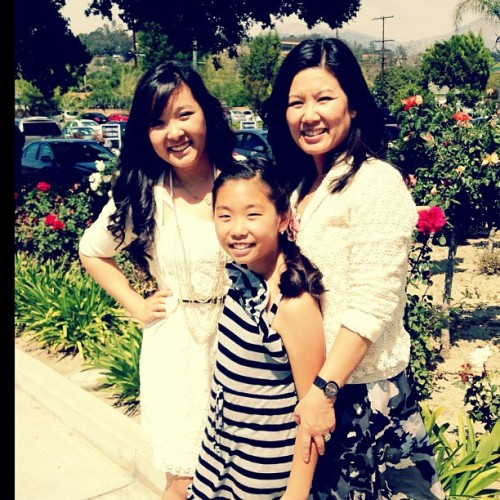 I love my mommy and my sister <3 #church#love#easter#spring (Taken with instagram)