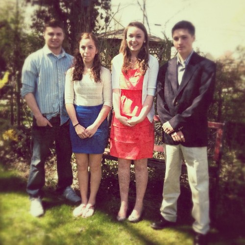 Happy Easter! Missing one cousin. :( (Taken with instagram)
