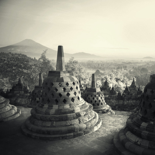 Borobudur is indeed majestic. The view on top of it is breathtaking as well!