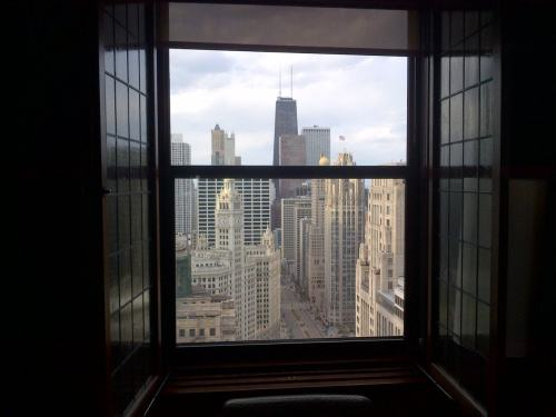 Room with a view, day off, Chicago, IL