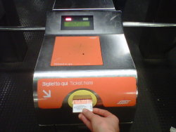 The machine that mark marks tickets