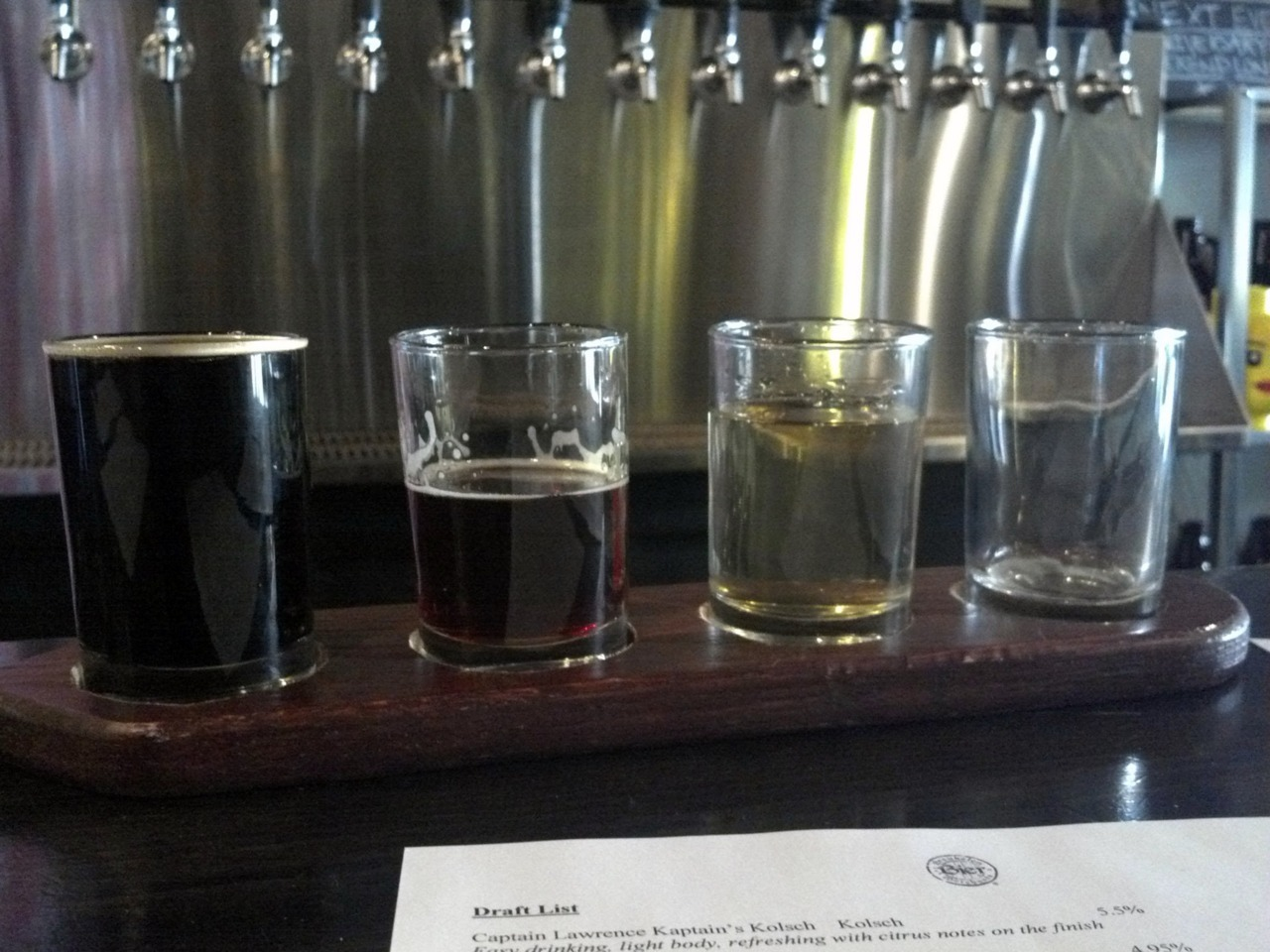 Beer tasting at Bier, Brooklyn.