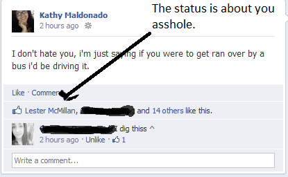 s3cr3t-wh0re:  the status was about you dumbassssss.