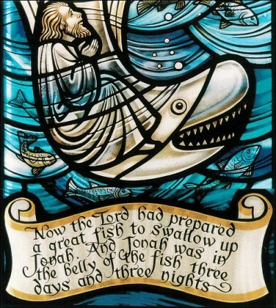 stainedglassforever:  Jonah. Photo via The Reference Reference.