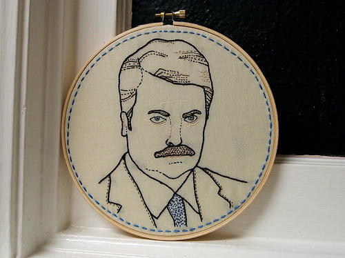 spidercamp:  Ron Swanson (by ktburrr)