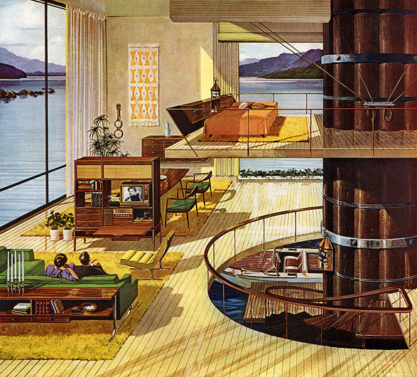 Motorola, 1962  Love to have a place like this :)
