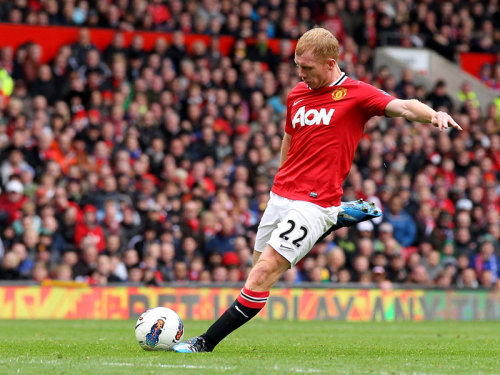 "keepcalmandlovemanchesterunited:  ""The second goal from Scholes calmed everyone down."" - Sir Alex Ferguson (Premier League 2011/12: Manchester United 2 - Queens Park Rangers 0)"