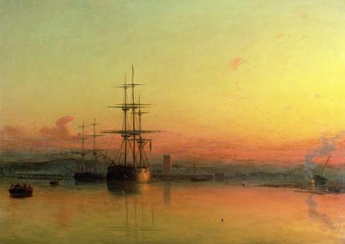 Dead Calm, Sunset at the Bight of Exmouth by James Francis Danby, n.d