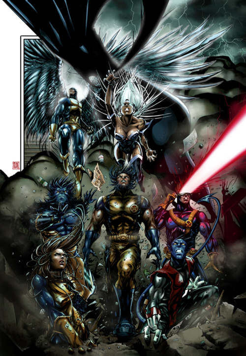 fuckyeaharchangel:  melikeacarart:  X Men  Beautiful art!! Great work.  Awesome.