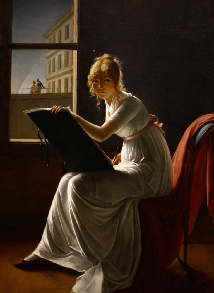 Young Woman Drawing by Marie-Denise Villers (1774-1821)