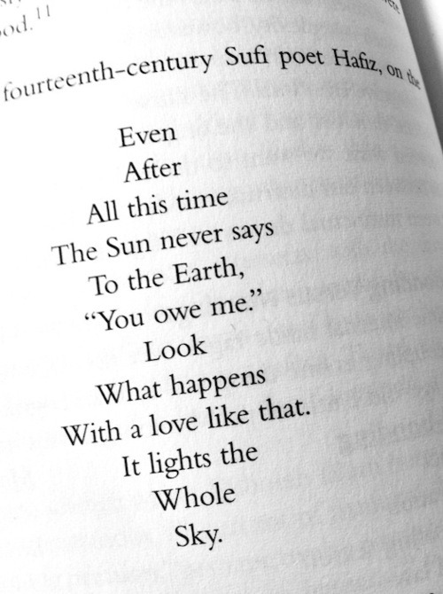 "policroma:  ""The Sun Never Says"" - Hafiz Beyond Beautiful"