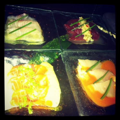 Selection of sashimis @ Sushi Samba, NYC