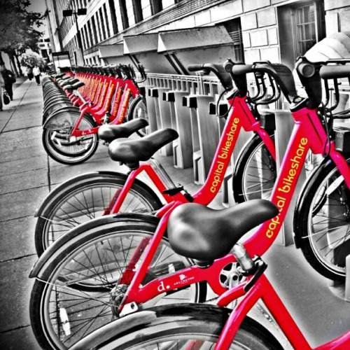 Capital BikeShare #DC #bw #colorsplash #Droidography #droidHDR #fotodroids #IGn3c by Nakeva on Flickr.