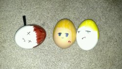 luvtheviking:  alexanderssskarsbrow:  arinekochan:  My True Blood Easter Eggs :P  LOL  guess who got staked.