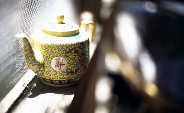 Chinese Teapot on the Porch By abbyladybug