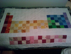atomicboheme:  Periodic Table Quilt by fadinghippie on Flickr. periodic table of elements quilt