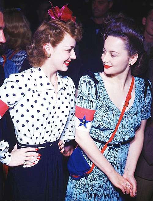 Joan Fontaine and Olivia De Havilland, C.1940's