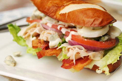 sidesplitter:  Turkey Cobb Salad Sandwich