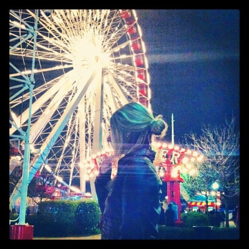 thisisbradford:  Skye and the Ferris Wheel. (Taken with instagram)