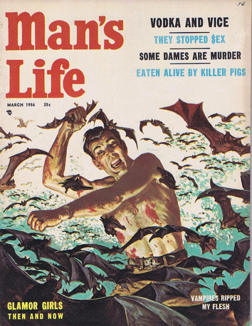 drakecaperton:  Man's Life March 1956