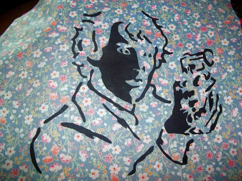 Sherlock patches I made today. They're for sale, if anyone wants to actually buy one/both.