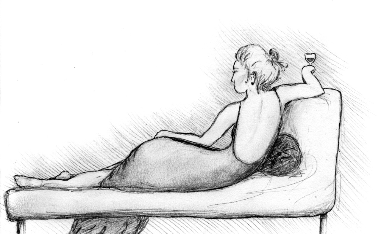 Lounging Woman. just a little sketch I did last night