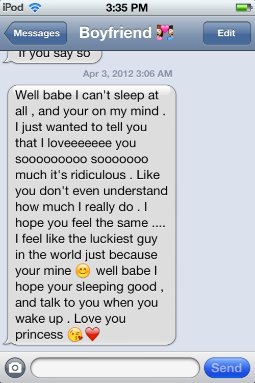 heytheredariana:  The texts I wake up too from my boyfriend »