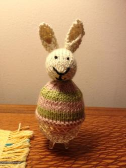 Bunny Egg Cozy I ran out of time so unfortunately he's armless. But still cute :) Happy Easter!